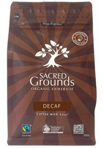 SACRED GROUNDS Coffee Ground (Plunger) Fair Trade Organic - Decaf