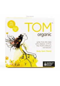 Tom Organic Pads Ultra Thin Day Pads with Wings (10 PACK)