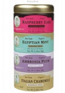 ZHENA'S GYPSY TEA Herbal Tea Bags Variety Sampler (4 Flavours)