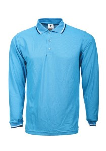 Cotton Polo T Shirt BSH LS 06 (Turquoise)