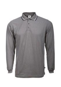Cotton Polo T Shirt BSH LS 07 (Charcoal)