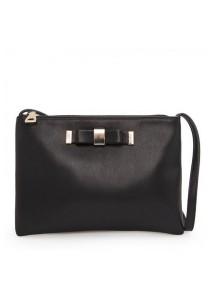 Mango Bow Cross Body Sling Bag - Black