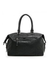 Mango Pebbled Weekend Bag - Black