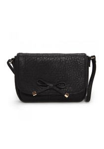 Mango Bow Pebbled Effect Cross Body Bags