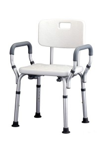 Hopkin Shower Chair with Backrest and Armrest