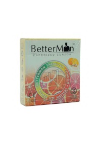 BetterMan Energized Condom Orange 3 pcs