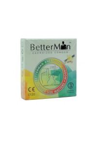 BetterMan Energized Condom Vanilla 3 pcs