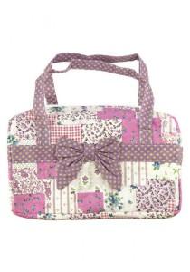 Vintage Patchwork Country Style Korean Shoulder Bag (Purple)