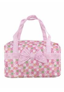 Vintage Patchwork Country Style Korean Shoulder Bag (Pink)