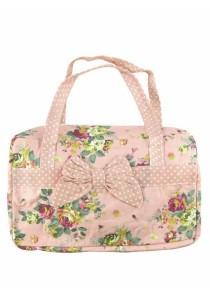 Vintage Patchwork Country Style Korean Shoulder Bag (Orange)