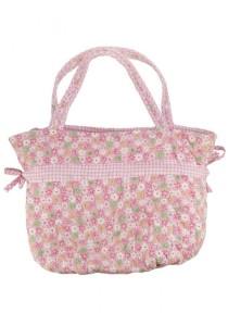 Handmade Vintage Cotton Shoulder Bag (Pink)