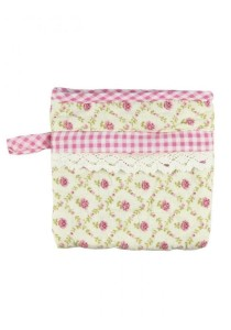 Handmade Vintage Lacey Cotton Patch Clutches (B)