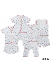 FIFFY Blue Cartoon Infant Suit Value Bundle (4 in 1) - Set A