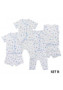 FIFFY Blue Cartoon Infant Suit Value Bundle (4 in 1) - Set B