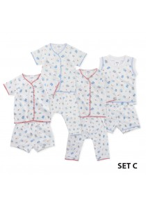 FIFFY Blue Cartoon Infant Suit Value Bundle (4 in 1) - Set C