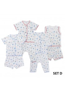 FIFFY Blue Cartoon Infant Suit Value Bundle (4 in 1) - Set D