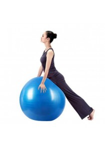 Burst Resistance 60cm Yoga and Fitness Ball Free Air Pump (Blue)