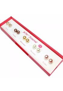 Pearl Studs Earrings Set (Set of 5)