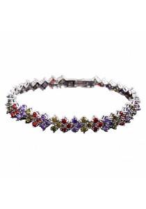 Classic CZ Zirconia Bracelet (Multicolor)