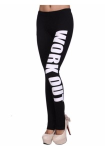 Work Out Fitness Legging (White)