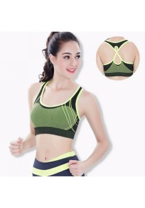 Candy Colors Crossback Sports Gym Yoga Bra Yellow