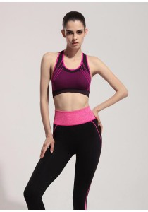 Candy Colors Crossback Sports Gym Yoga Bra Pink