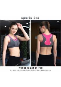 Pro Sport Gym Yoga Zipper Bra Pink