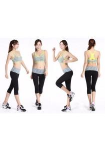 Candy Color Three Quarter Yoga Sport Pants Yellow