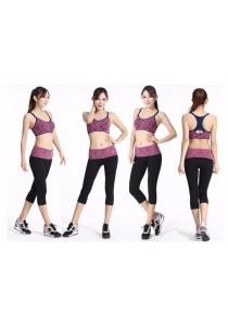 Candy Color Three Quarter Yoga Sport Pants Violet