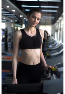 Pro Sport Gym Yoga Zipper Bra Black