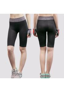 Knee Length Quick Dry Sport Yoga Short Pants