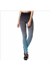 Sport Yoga Gym Quick Dry Yoga Long Pants Blue