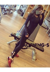 Fashionable Quick Dry Sport Yoga Pants Black