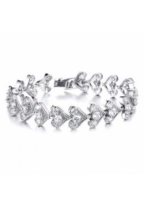 Heart to Heart Love Bracelet (Silver)