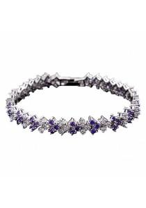 Classic CZ Zirconia Bracelet (Purple)