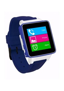 Burg 16 Smart Watch Phone with Sim Card - Denim Blue