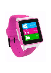 Burg 16 Smart Watch Phone with Sim Card - Pink