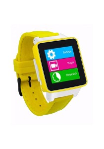 Burg 16 Smart Watch Phone with Sim Card - Yellow
