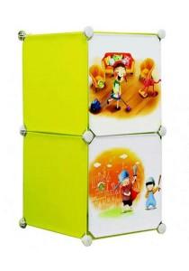 Tupper Cabinet 2 Cubes Fruit Green DIY Cartoon(Story) Storage Cubes