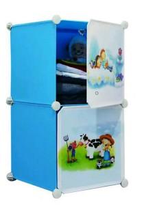 Tupper Cabinet 2 Cubes DIY Cartoon Storage -  Sky Blue