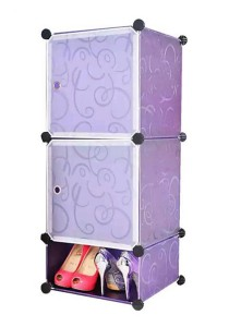 Tupper Cabinet 3 Cubes Purple Stripes DIY  Storage Organizer