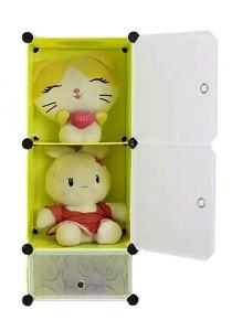 Tupper Cabinet 3 Cubes DIY Storage Cubes - Fruit Green