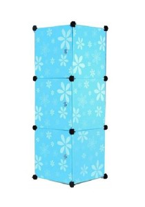 Tupper Cabinet 3 Cubes Blue Flower DIY Storage Box