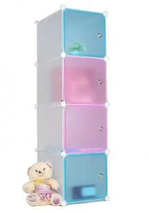 Tupper Cabinet 4 Cubes Straight Mix Colour DIY Cabinet