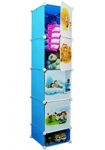 Tupper Cabinet 5 Cubes Sky Blue DIY Cartoon (Story) Wardrobe With Shoe Rack