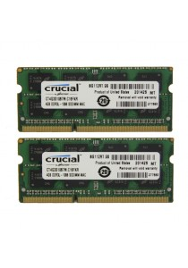 Crucial 8GB DDR3 1066 SODIMM RAM 4GB 2 Units