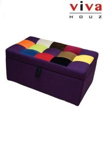 CABELLO Storage Ottoman - Purple