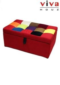 CABELLO Storage Ottoman - Red