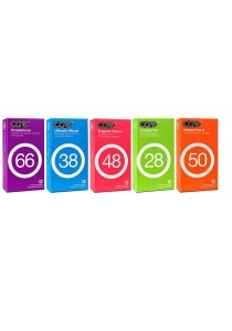 Care Condoms 12-piece Set of 5 Multicolor
