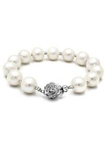 Casablanca Hematite & Fresh Water Pearl Bracelet